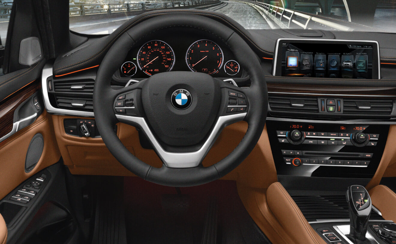 The BMW X6 XDrive50i With Exclusive Cognac Black Nappa Leather Interior