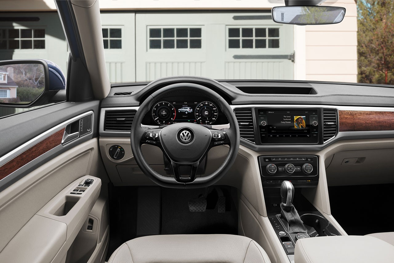 Interior of the VW Atlas
