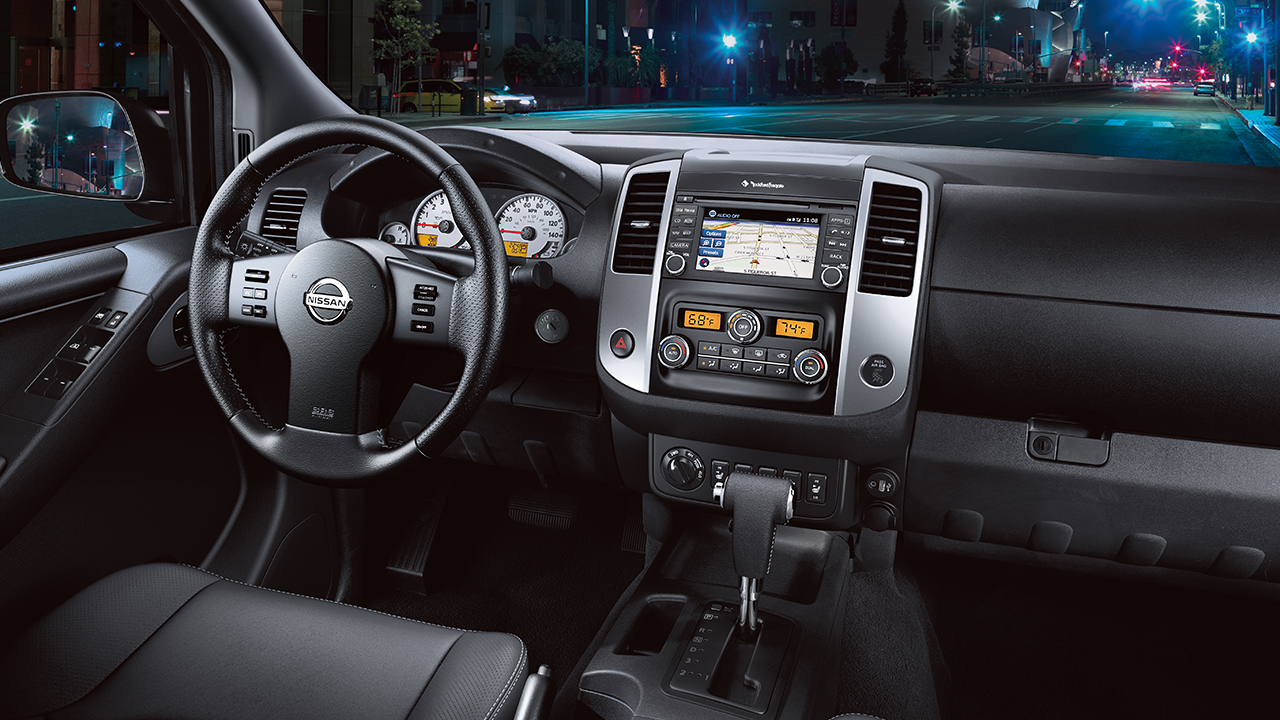 Interior of the Nissan Frontier