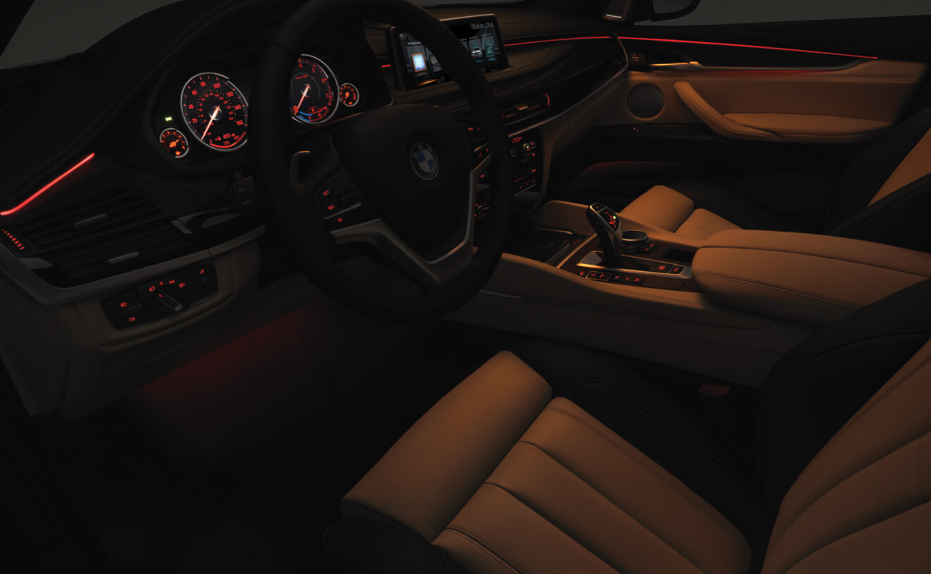 The Luxurious Ambient Lighting Found in the BMW X6 xDrive50i