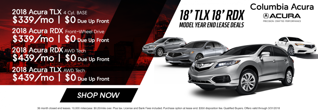Acura Dealer Cincinnati OH New Used Cars For Sale Near - Best acura rdx lease deals