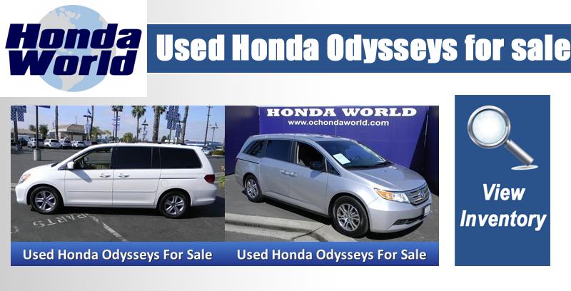 Honda Dealership Orange County >> Used Honda Odyssey Orange County Westminster Anaheim