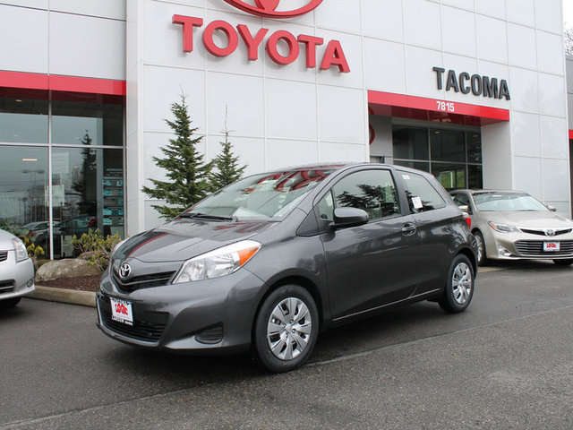 What are the Trims of the 2014 Toyota Yaris at Toyota of Tacoma