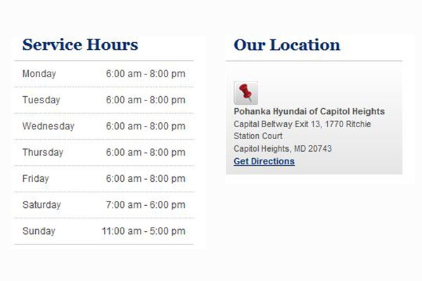 Schedule Service Appointment - Pohanka Hyundai of Capitol Heights