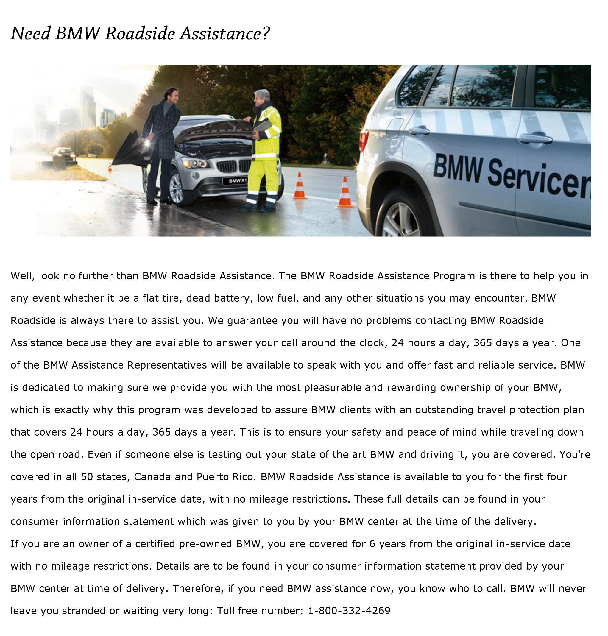 Bmw Roadside Assistance Bmw Of Okemos