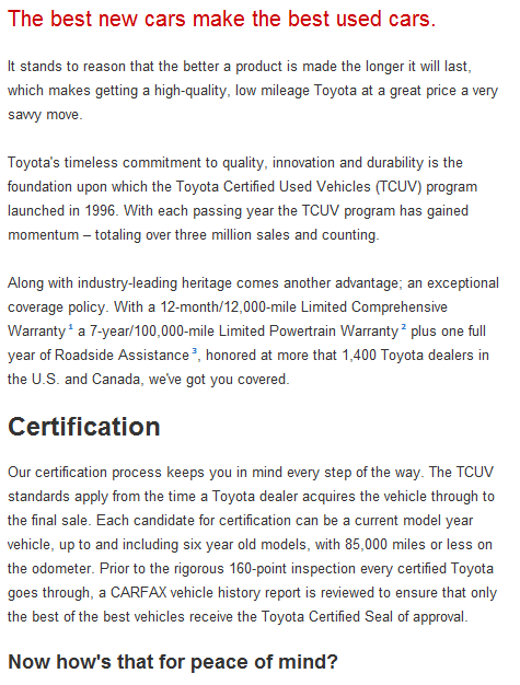 Toyota Certified Used Cars | Anderson Toyota | Loves Park Near Rockford IL