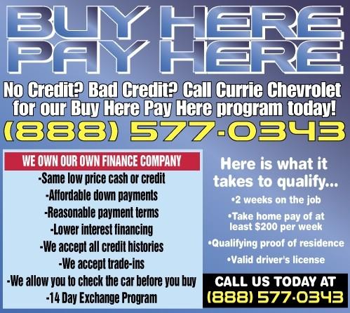 Buy Here Pay Here Indianapolis No Credit Check >> Buy Here Pay Here Buy A New Or Used Chevrolet Near La