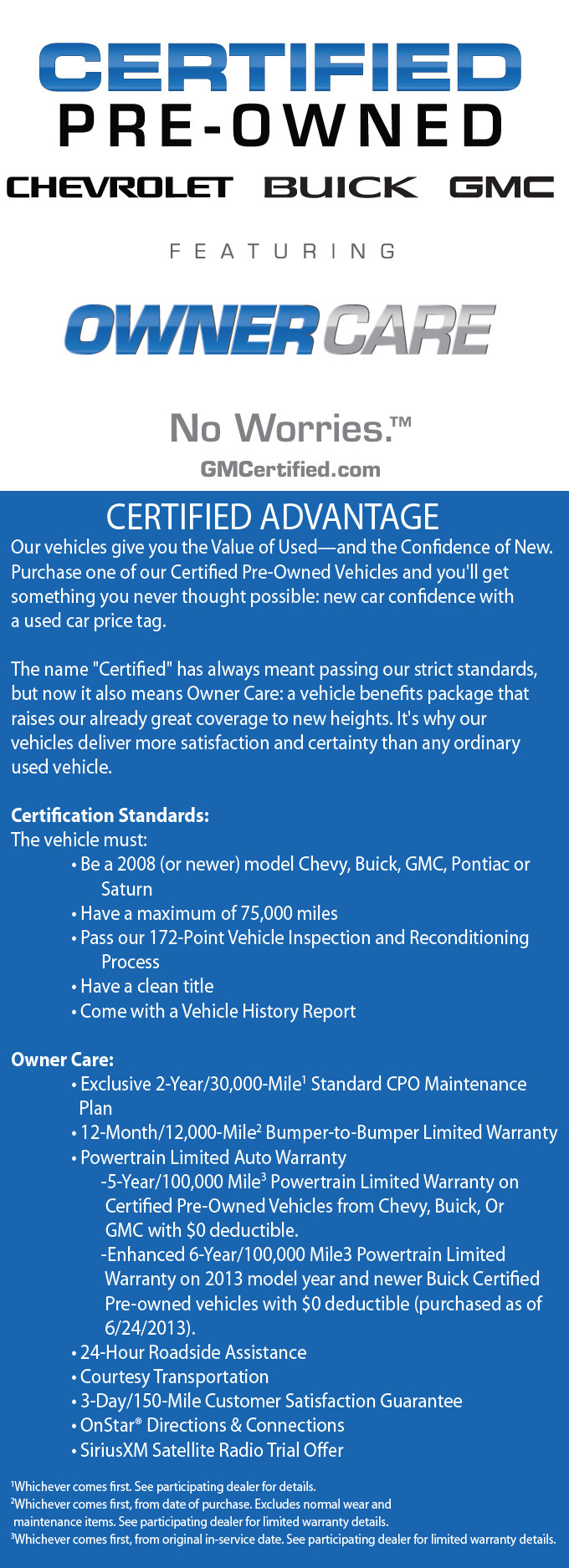 Certified No Worries Owners Care