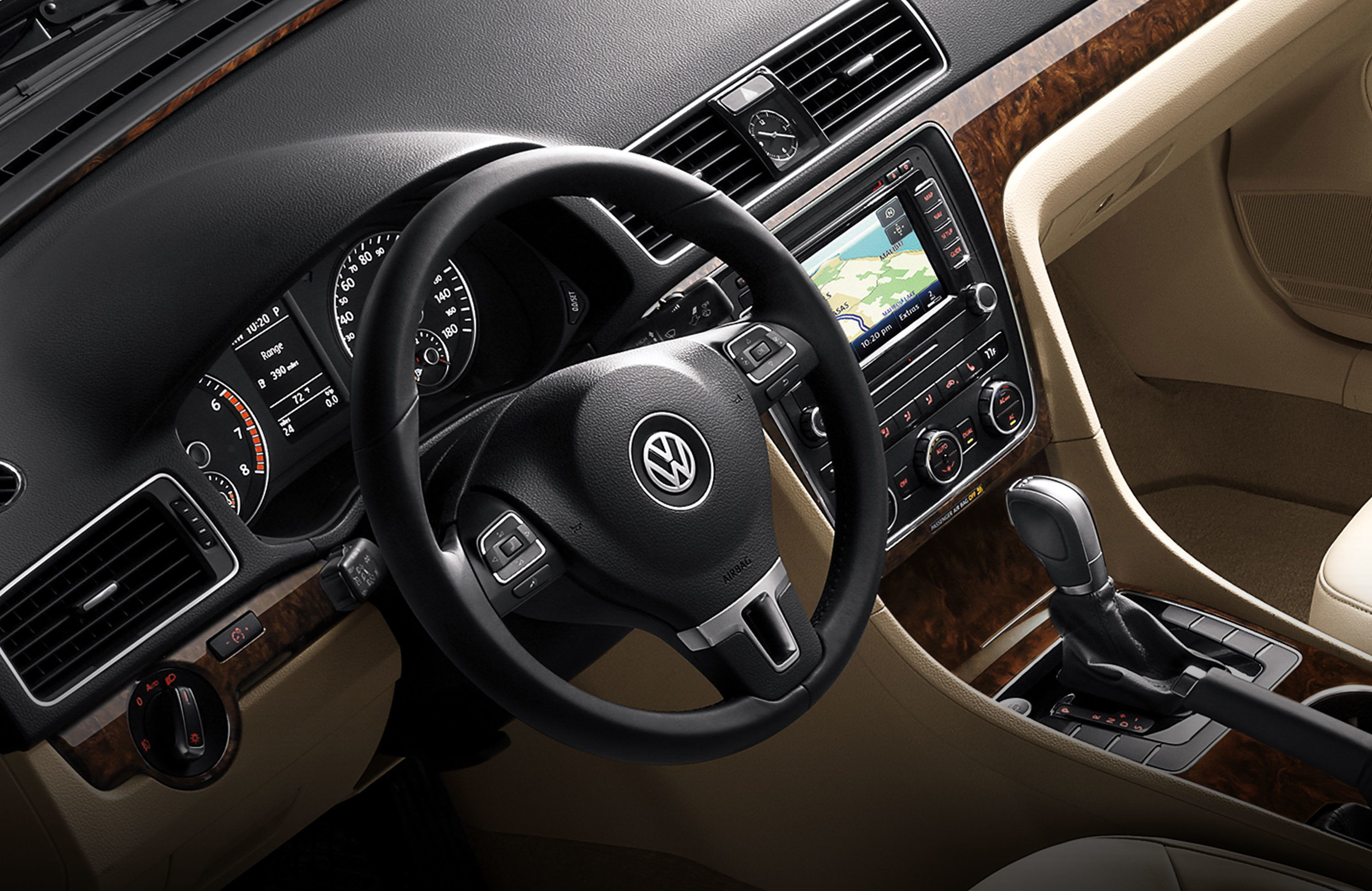 Interior of 2015 Passat