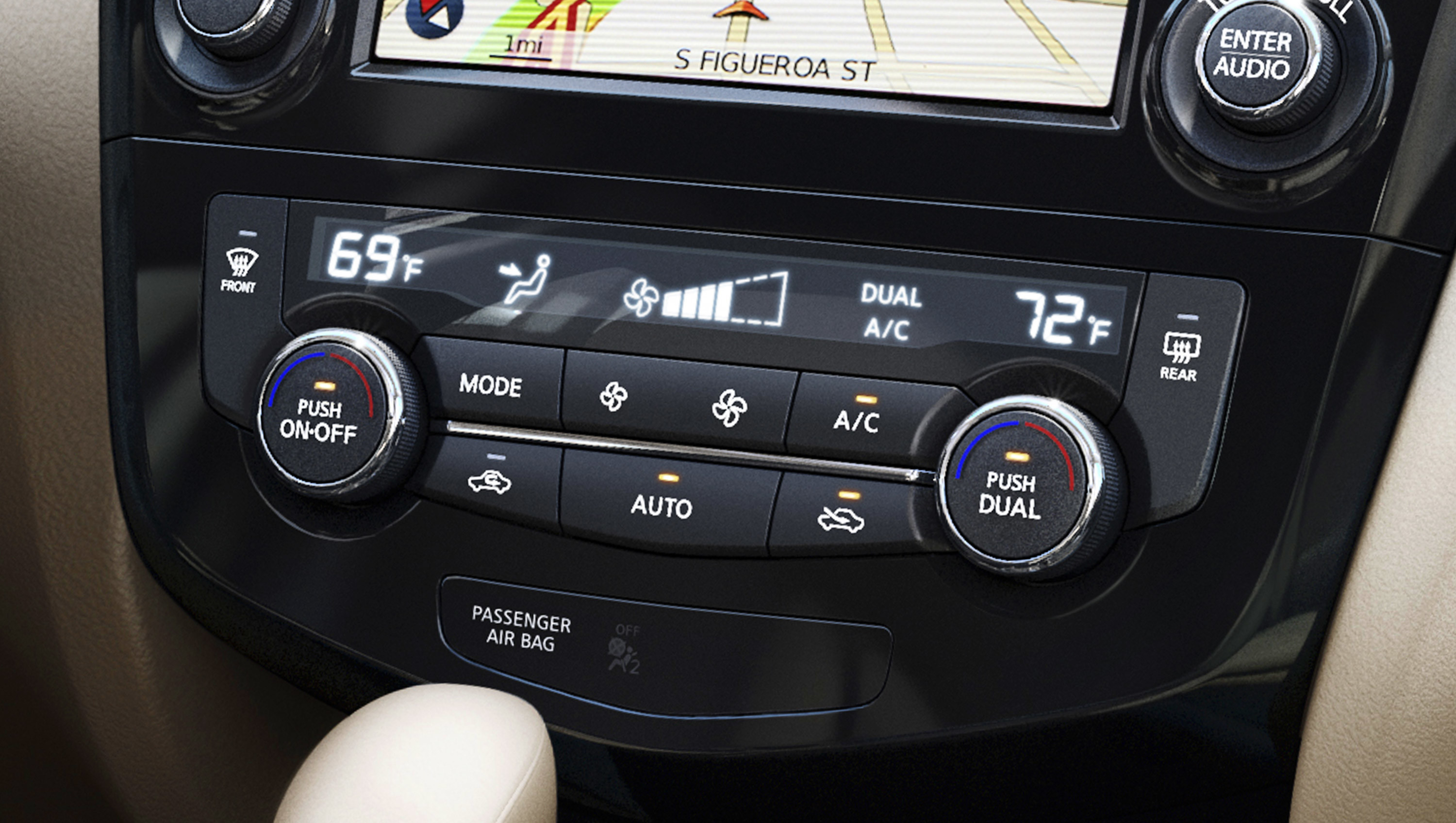 ... Interior Drive Assist 2015 Nissan Rogue Climate Control ...
