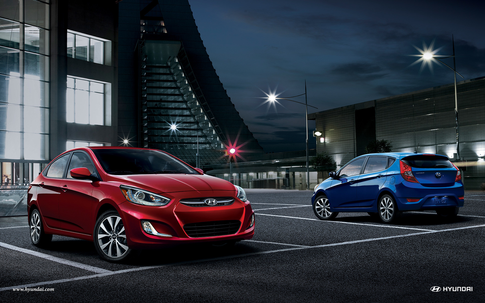 2015 Hyundai Accent four-door exterior