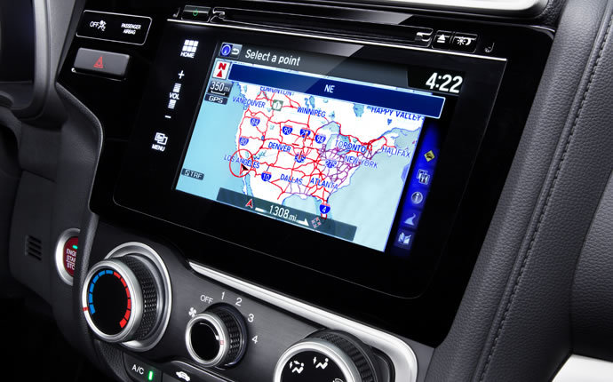 The navigation system in the 2015 Honda Fit