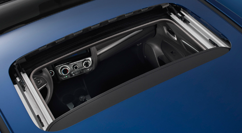 The sunroof in the 2015 Honda Fit
