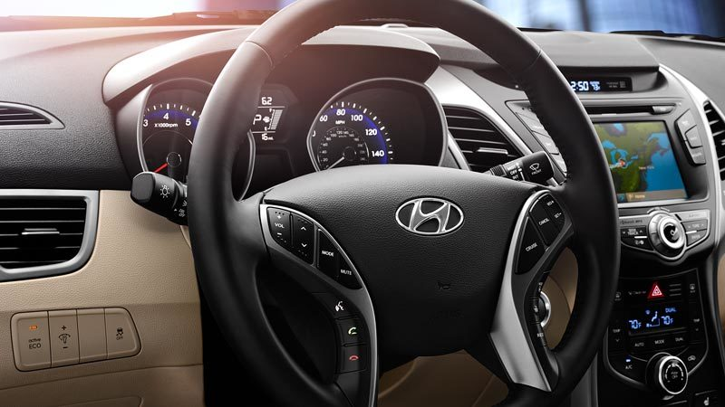 2016 Elantra Steering-Wheel-Mounted Controls