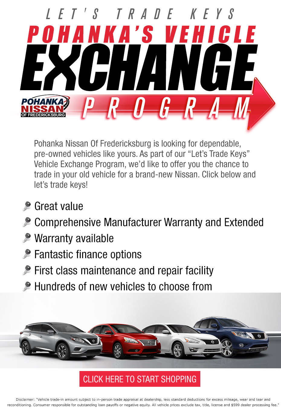 Pohanka Vehicle Exchange Program - Pohanka Nissan of Fredericksburg
