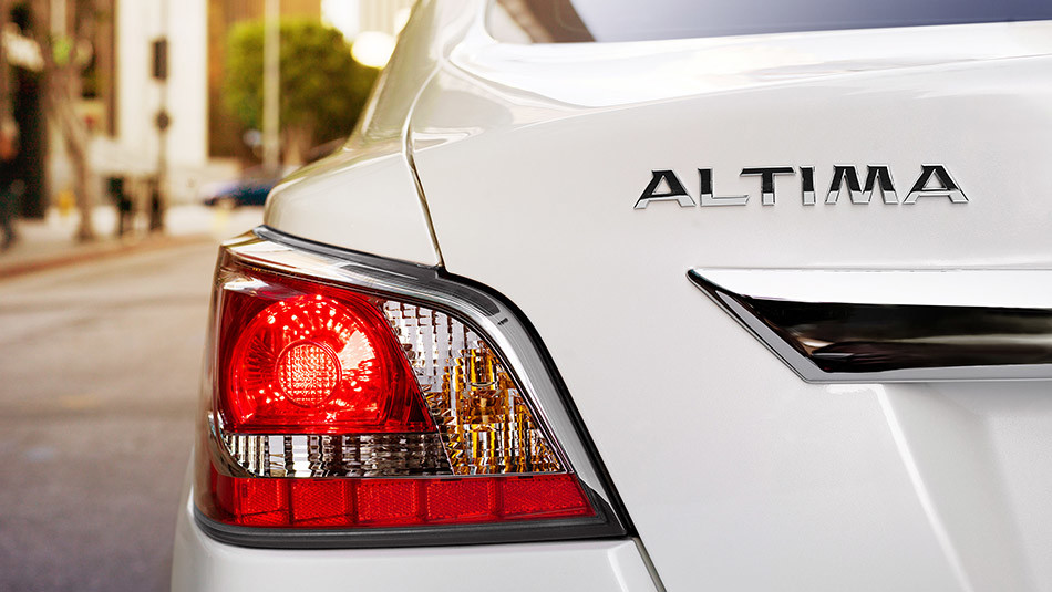 Nissan Altima Badge and Taillights