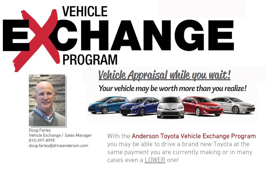 Vehicle Exchange Program | Anderson Toyota | s Park, Serving ...