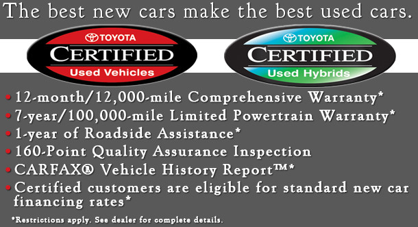 Certified Used Toyota >> Anderson Toyota Certified Preowned Serving The Rockford