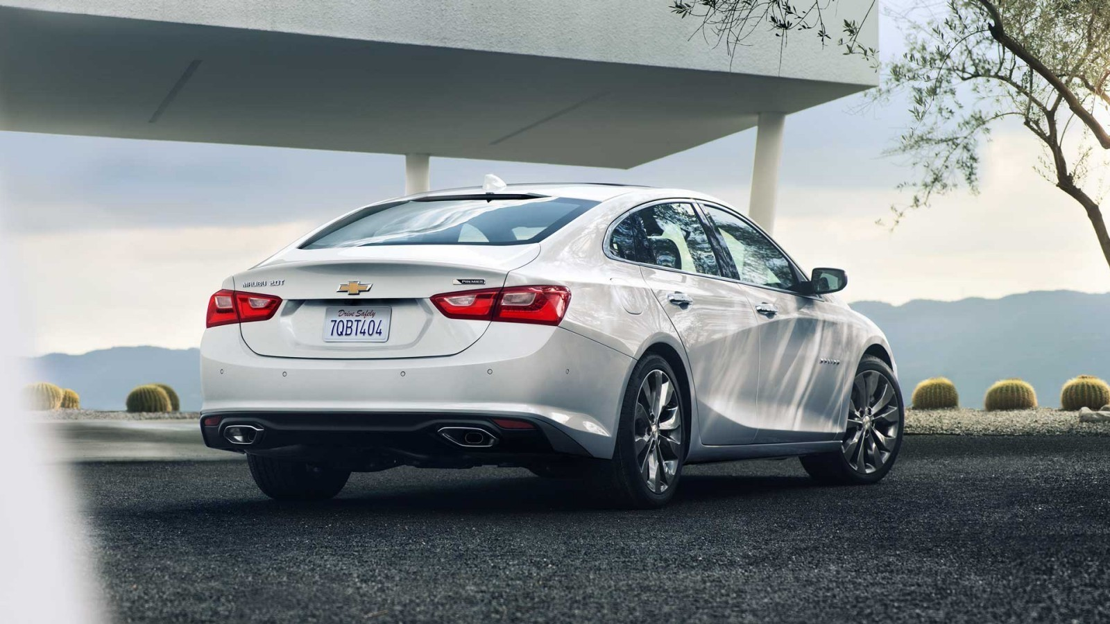 Rear of the 2016 Chevy Malibu