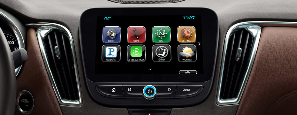Chevrolet MyLink display on the 2016 Chevy Malibu
