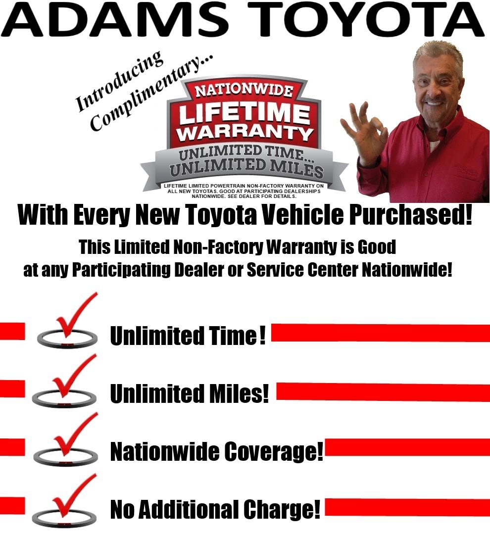 Toyota Dealership Kansas City >> Lifetime Warranty - Adams Toyota
