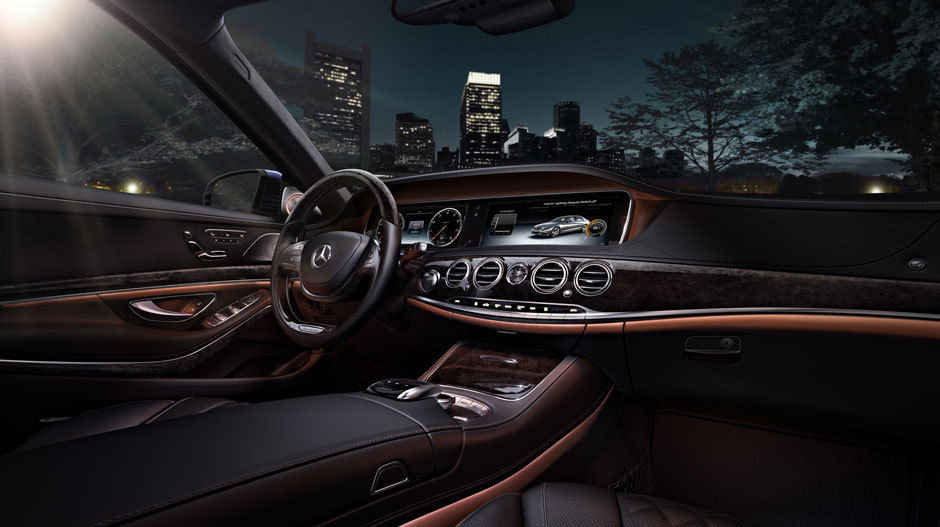 Interior of the 2016 Mercedes-Benz S-Class