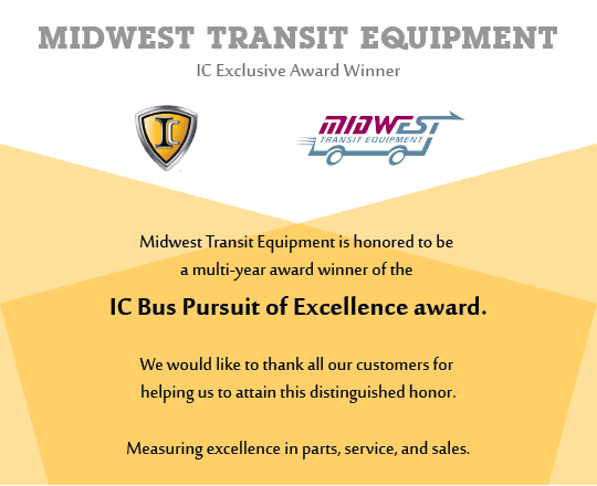 IC Bus 2015 Pursuit of Excellence Award - Midwest Transit