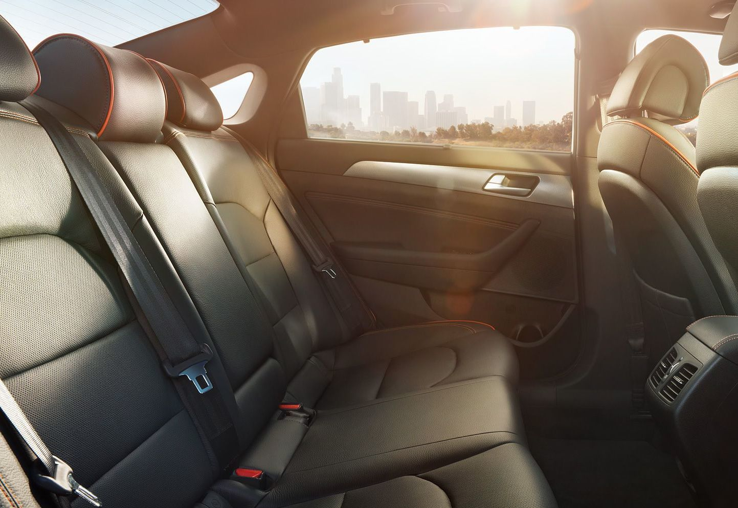 2016 Sonata Interior with Spacious Rear Seating