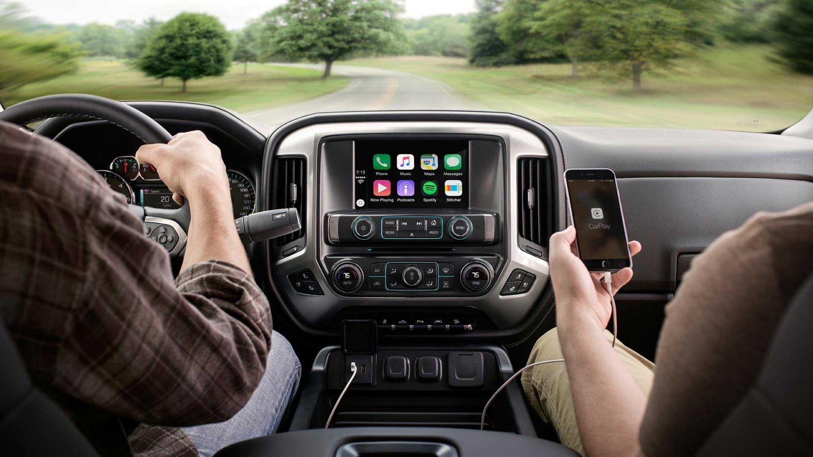 Chevy Silverado 2500HD with Apple CarPlay™