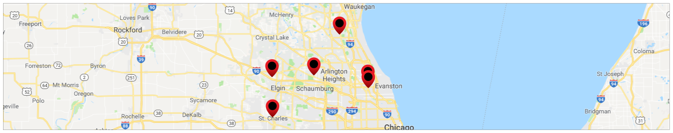 McGrath Automotive Group Map