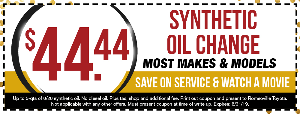 Oil Change Special >> Romeoville Oil Change Special Romeoville Toyota