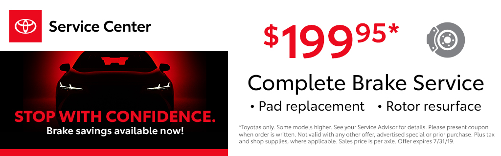 Toyota Service Coupons >> Toyota Service Specials At Foothills Toyota In Burlington