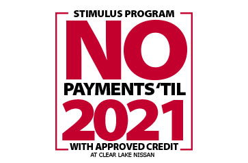 Stimulus Program - No Payment 'Til 2021