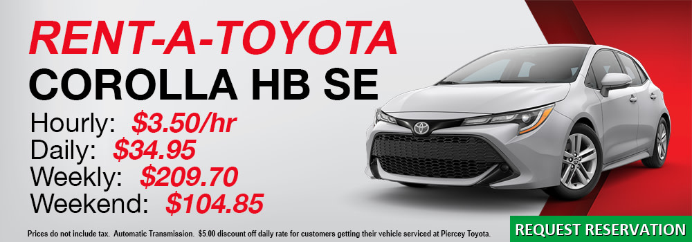 Rent a Toyota Corolla Hatchback