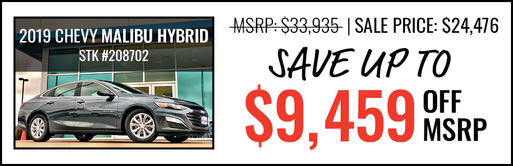 2019 Malibu Hybrid Save up to $9,459 Off MSRP