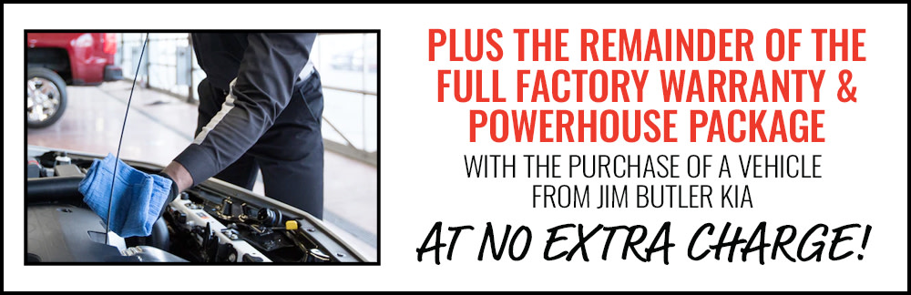 Get the Remainder of the Full Factory Warranty & the Powerhouse Package at No Extra Charge
