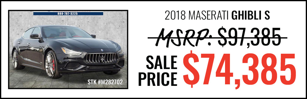 2018 Maserati Ghibli S Starting at $74,385