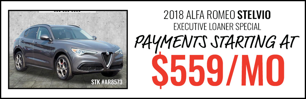 2018 Alfa Romeo Stelvio Payments Starting at $559/Month