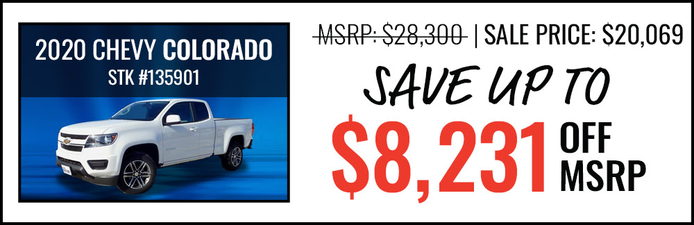 2020 Chevy Colorado Save up to $8,231 Off MSRP
