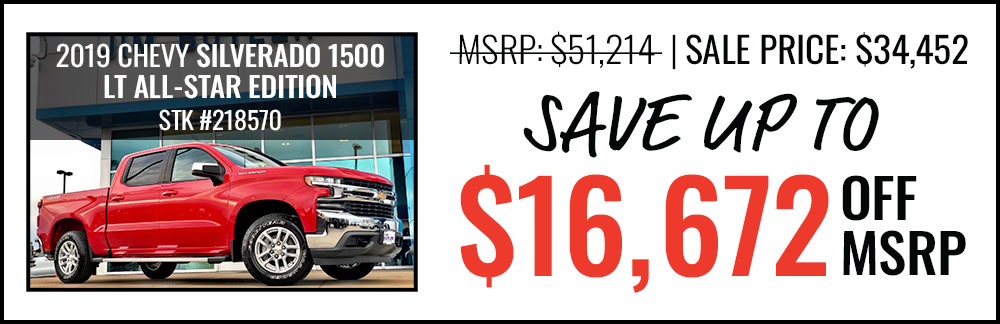 2019 Silverado 1500 LT All-Star Edition Save up to $16,672 Off MSRP