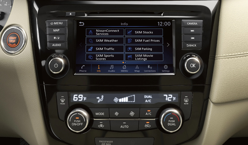 Center Stack Controls in the 2020 Rogue