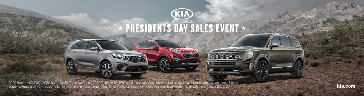 Kia Presidents Day Sales Event 2020