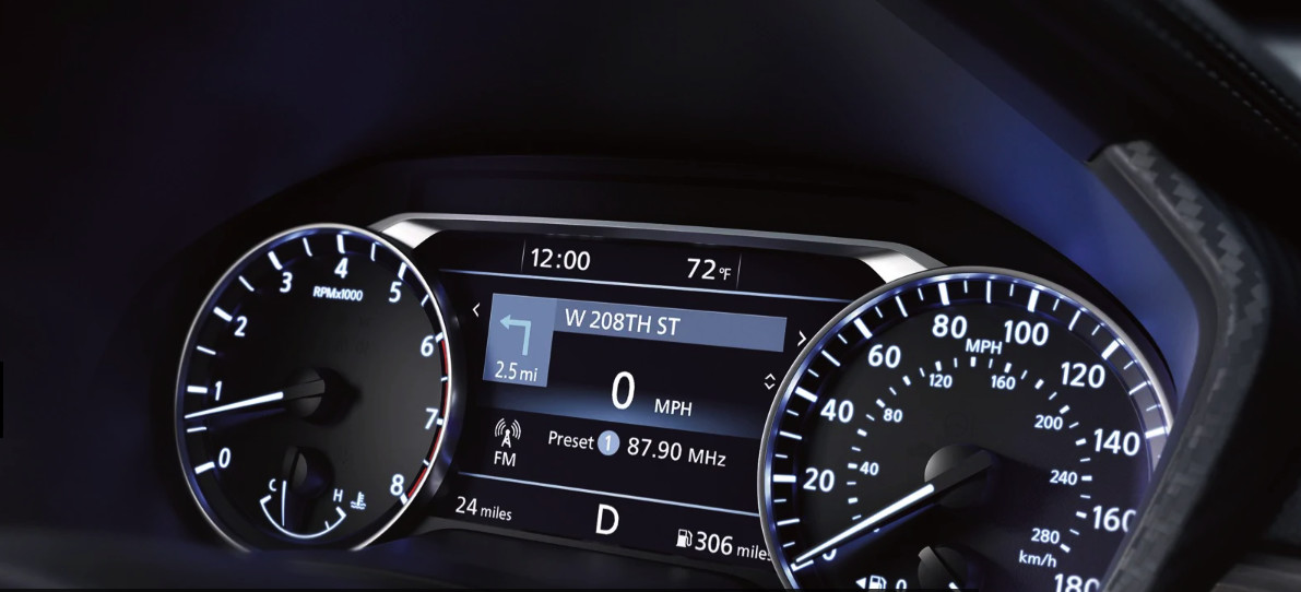 Vehicle Information Display in the 2020 Nissan Altima