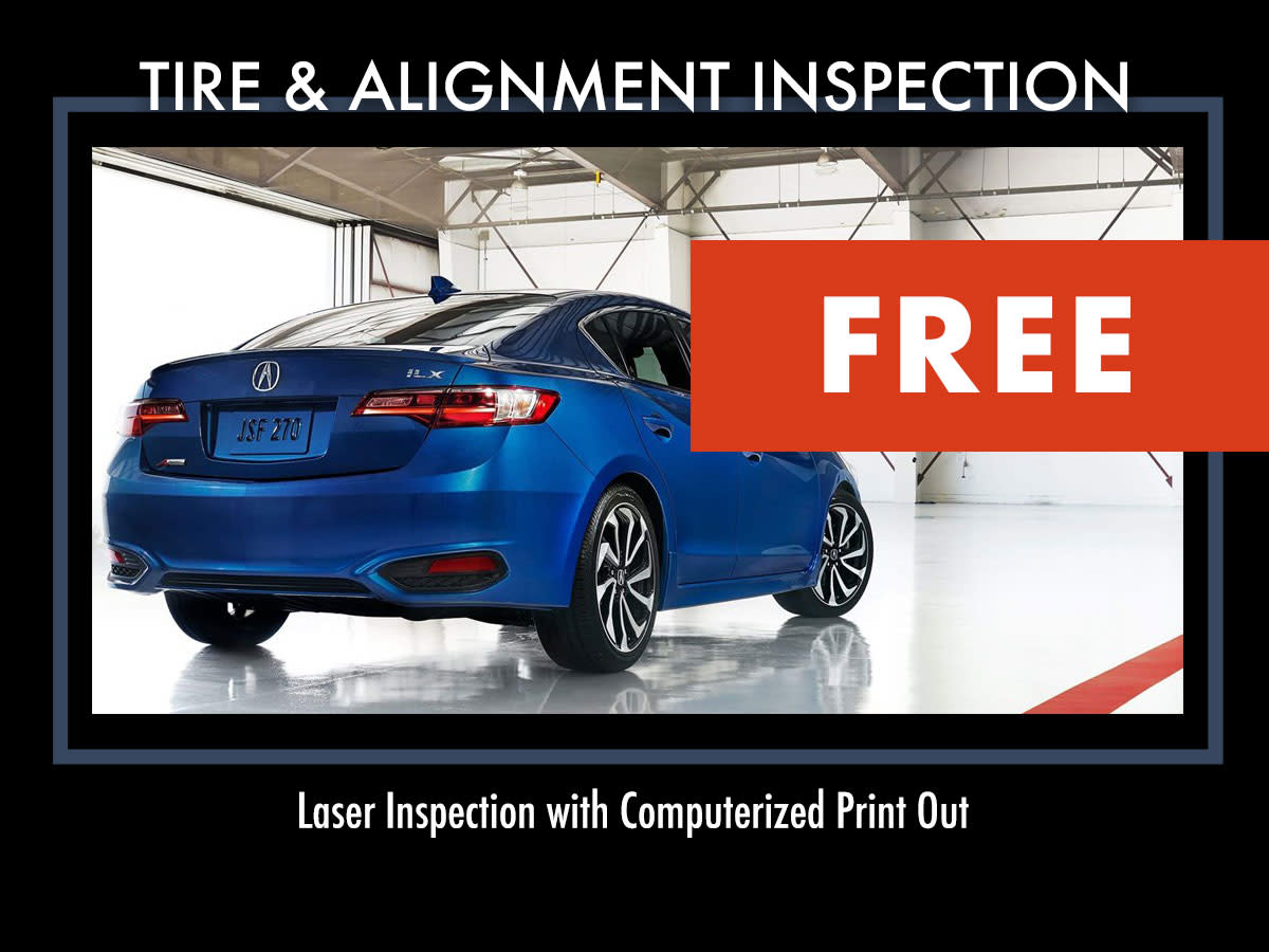 Acura FREE Tire and Alignment Inspection Service Coupon