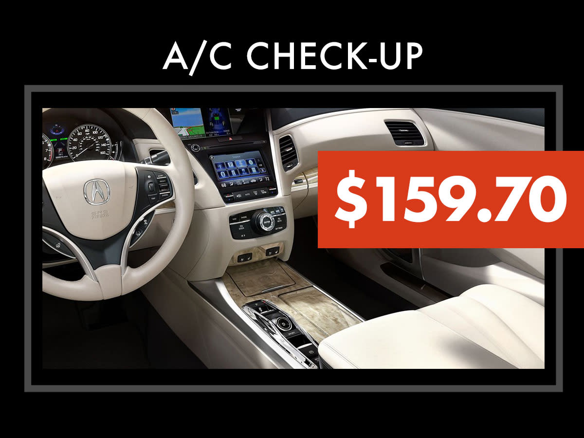 Acura Air Conditioning Performance Check Coupon