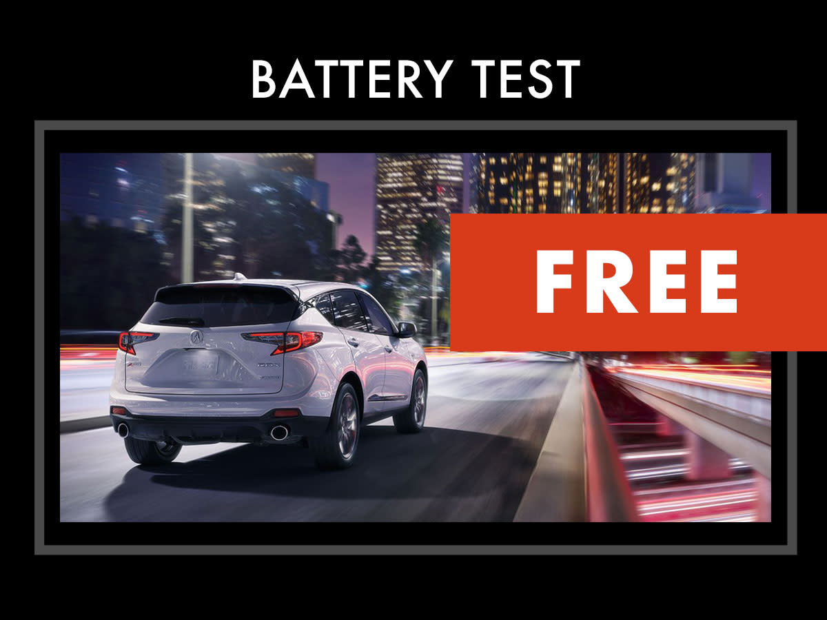 Acura Battery Test Coupon