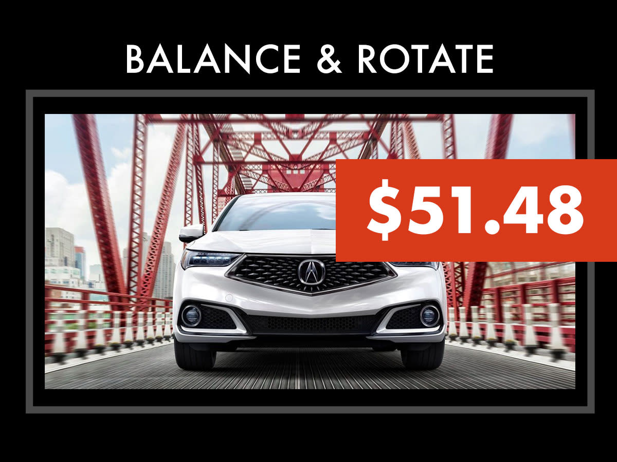 Acura Tire Rotation & Balance Coupon