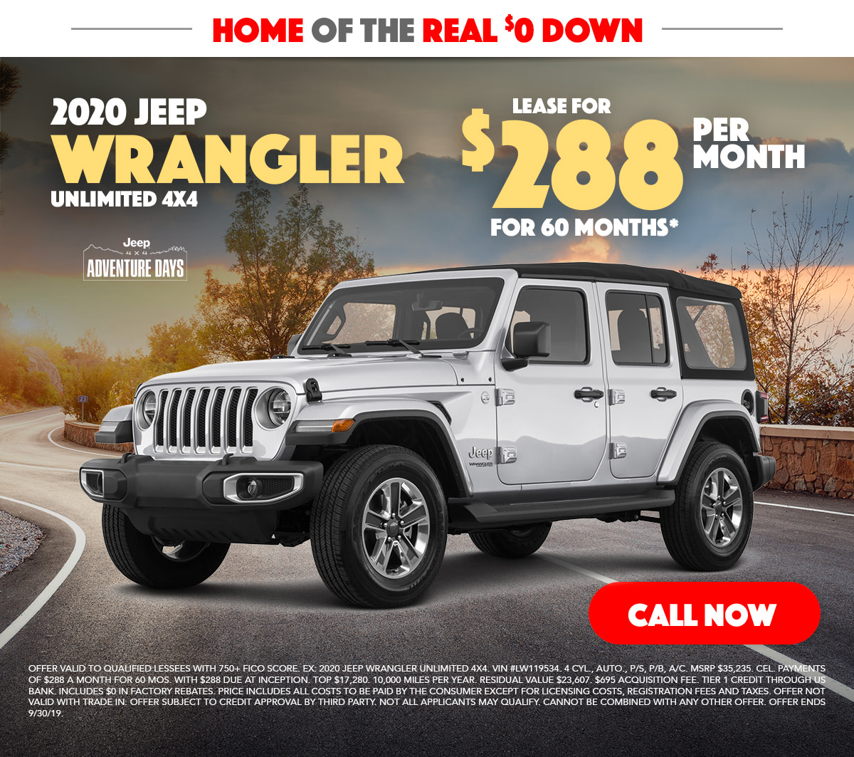 2020 Jeep Wrangler Unlimited Lease Special