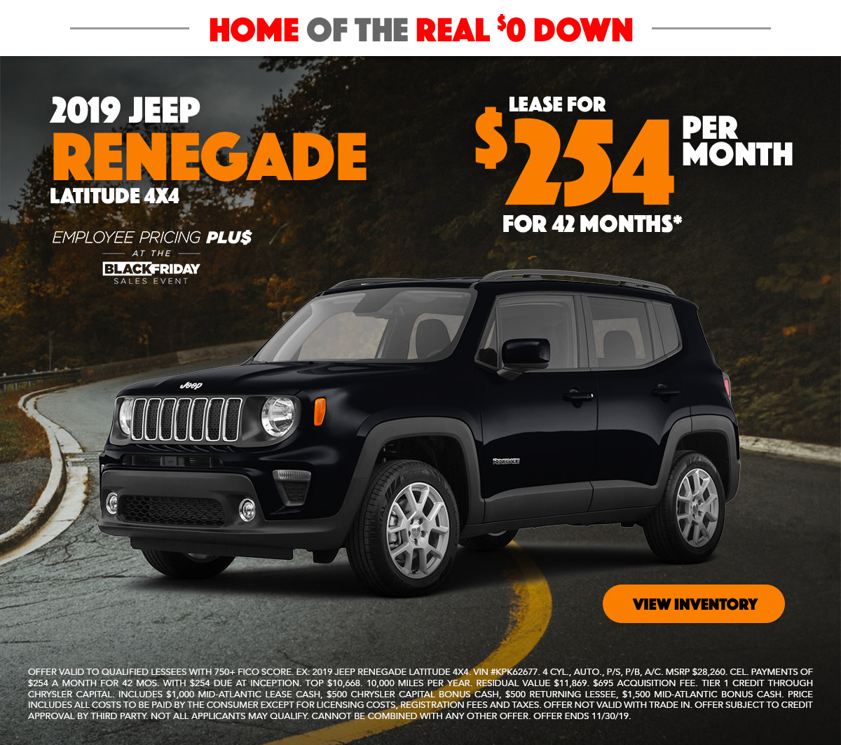 2019 Jeep Renegade Lease Special