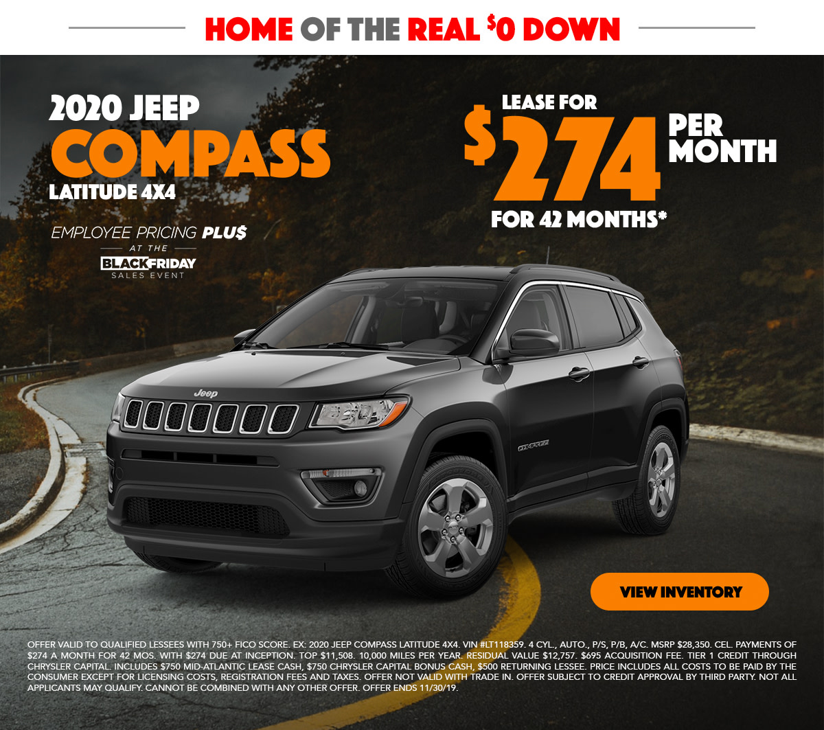 2019 Jeep Compass Lease Special